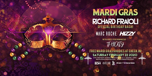 Mardi Gras | Royale Saturdays | 2.22.20 | 10:00 PM | 21+