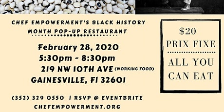 Chef Empowerment Black History Month POP- UP tickets