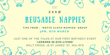 Reusable nappies - tips from 'Notts Cloth Nappies' group tickets