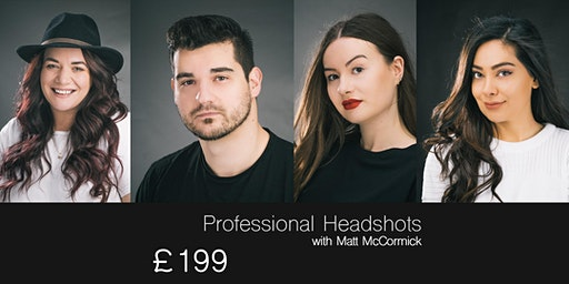 Headshot Studio Photography Session [12:00-14:00] 2 hours Harrogate Studio