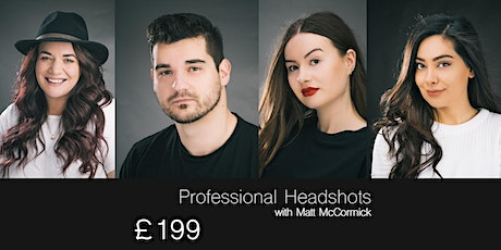 Headshot Studio Photography Session [15:00-17:00] 2 hours Harrogate Studio tickets