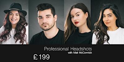 Headshot Studio Photography Session [15:00-17:00] 2 hours Harrogate Studio