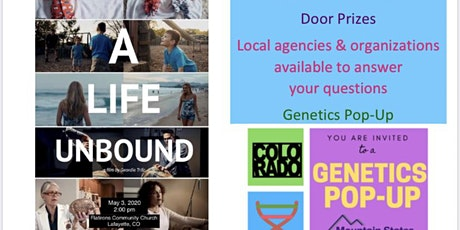 """Kinetic Connection Resource Fair """"A Life Unbound""""  Showing Genetics Pop-up tickets"""