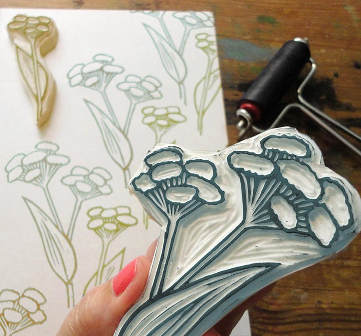 Workshop - Stempel schnitzen / Textildruck - Stamp Carving and Printing image