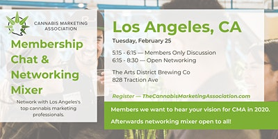 Cannabis Marketing Association Membership Chat & Networking Mixer