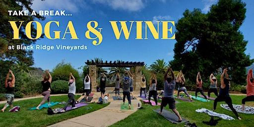 YOGA & WINE at Black Ridge Vineyards - April