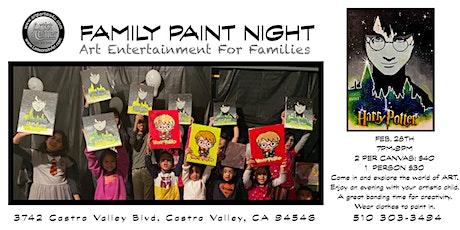"Family Paint Night: ""Harry Potter"" tickets"