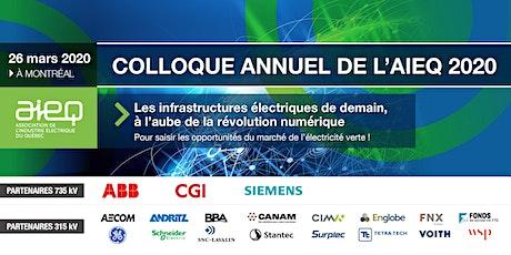 AIEQ - Colloque annuel - Les infrastructures électriques de demain, à l'aube de la révolution numérique billets