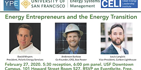 Energy Entrepreneurs and the Energy Transition tickets