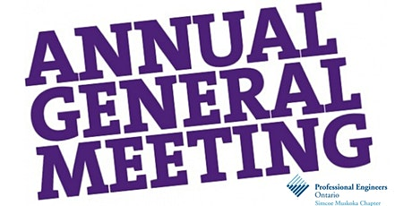 2020 PEO Simcoe-Muskoka Chapter Annual General Meeting  & License Ceremony tickets