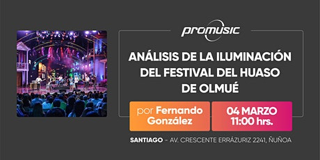 Análisis de la iluminación del Festival del Huaso de Olmué entradas