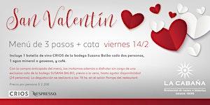 Venta Anticipada - Menu San Valentín + Cata Susana...
