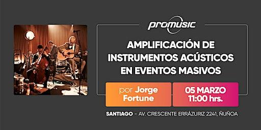 Amplificación de instrumentos acústicos en eventos masivos