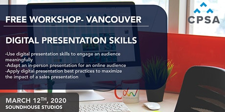 Free Workshop: Digital Presentation Skills tickets
