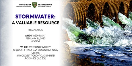 Stormwater: A Valuable Resource tickets