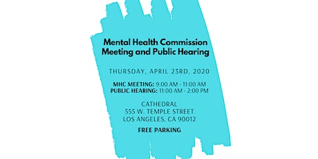 Mental Health Commission Meeting and Public Hearing tickets
