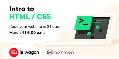 Le Wagon Workshop - Intro to HTML & CSS  tickets
