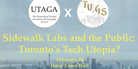 Sidewalk Labs and the Public: Toronto's Tech Utopia? tickets