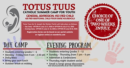 Totus Tuus Catholic Summer Camp for Youth tickets