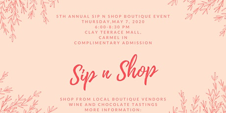 5th Annual Sip n Shop Boutique Event tickets