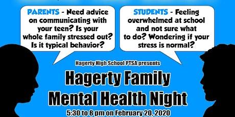 Hagerty Family Mental Health Night tickets