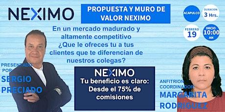 PROPUESTA Y MURO DE VALOR NEXIMO ACAPULCO entradas