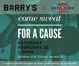 Barry's Bootcamp x MED Life Charity Workout Class tickets