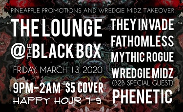 Pinneapple Promotions x Wredgie Midz Takeover tickets