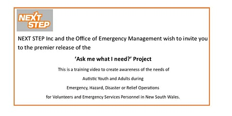 Ask me what I need ! Autism Awareness Training Video for Emergency Services tickets