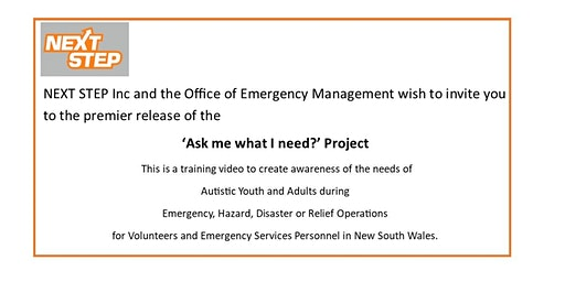 Ask me what I need ! Autism Awareness Training Video for Emergency Services