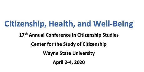 Citizenship, Health, and Well-Being Conference tickets
