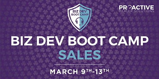 March - Biz Dev Boot Camp Sales