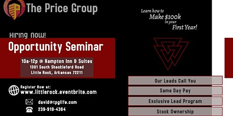 Career Opportunity Seminar - Little Rock tickets