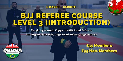 Brazilian Jiu Jitsu Referee Course - Level 3 (introduction) - Wales