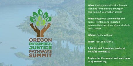 Oregon Environmental Justice Pathways Summit Info Session tickets