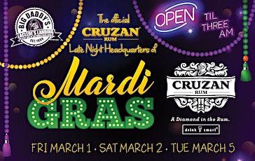 Free Mardi Gras Shuttle & Free 16oz Hurricane from Big Daddy's tickets