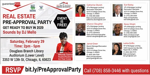 Real Estate Pre-Approval Party with Guaranteed Rate