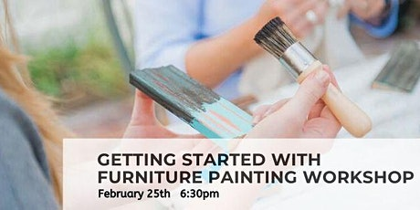 Getting Started With Furniture Painting Workshop tickets