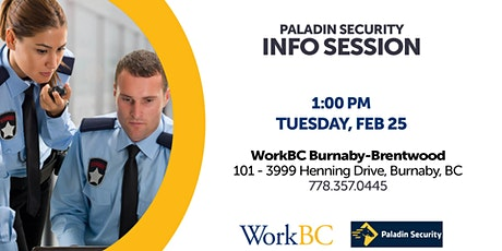 Paladin Security - Info Session tickets