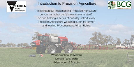 Introduction to Precision Agriculture (Edenhope) tickets