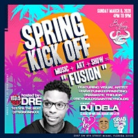 Dre from 1035 THE BEAT host Spring Break Kick Off Art Music Live Shows