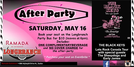 The Black Keys Longbranch Party Bus May 16, 2020 tickets