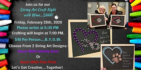 String Art Craft Night With Wine Shhh! tickets