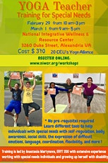 Yoga Teacher Training for Special Needs -20 CEU's tickets