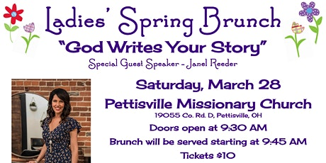 God Writes Your Story - A Ladies' Brunch at PMC tickets