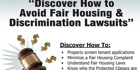 How to Avoid Fair Housing & Discrimination Lawsuits (SC) tickets