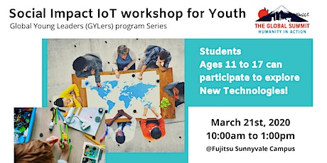 Social Impact IoT workshop for Youth (Global Young Leaders Program Series) tickets