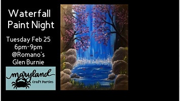 Waterfall Paint Nite with Maryland Craft Parties