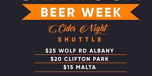 "Saratoga Beer Week ""Cider Night"" Shuttle"