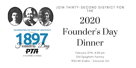 2020 Thirty-Second District Founder's Day Dinner tickets